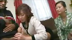 3 Japanese Moms trying their first  black guy…F70