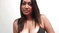 Asian and Indian girl play with strap-on