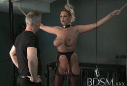 BDSM XXX Magic Wand treatment for subs who need to learn the hard way
