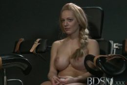 BDSM XXX Sub with massive breast gets hardcore wand treatment until she squirts