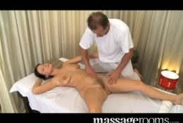 Beautiful MILF has her hairy pussy massaged