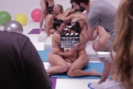 behind the scenes of group sex porn