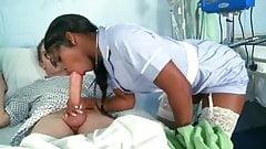 Black Nurse Fucked By Big White Cock