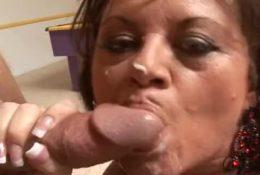 Buxom mature using her boytoy
