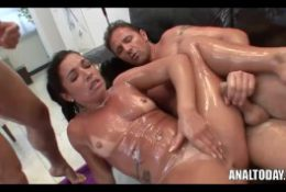 David Perry Oiled Up Double Penetration Anal Sex Gangbang