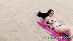 Desire Deluca BBW Bikini at the Beach Sucking and Fucking