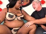 Ebony BBW Olivia Leigh Interracial Anal