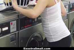 ExxxtraSmall – Petite Teen Fucked in Laundromat