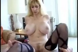 Fucking his friend's big tits mom