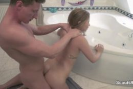 German step sister get caught and fucked by her step bro