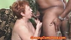 Granny Swallows load and then SUCKS out MY Anal Creram Pie