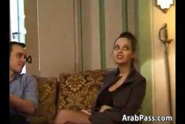 Hairy Arab Cutie In An Interracial Threesome