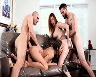 Hardcore Orgy With Two Sexy Chicks
