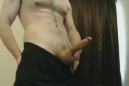 hot jock strokes his big throbbing dick