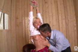 Kinky Doctor Forces Sexy Schoolgirl Kiara Lord to Have Extreme Fetish Sex