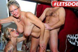 LETSDOEIT – German Mature MILFs Abuse Young Stud