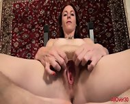 Mature Lady With Hairy Cunt