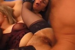 MILF caught with a shemale