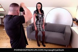 MY NAUGHTY ALBUM – Busty brunette Any Maax drilled by kinky photographer