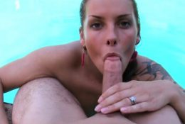 Nasty babe is shaking hunk's male penis hard and wild