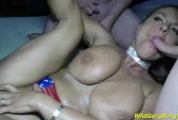 oiled big boobs flexible Milf gets banged