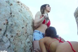 Outdoor Fuck in Public on Hike | Trans & Cis | Casey Kisses & Kylie Kisses