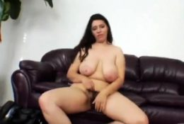 POV titjob with chubby brunette