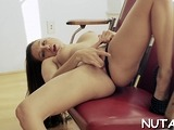 Tasty beauty is playing with her milk jugs era