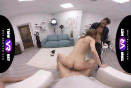 TmwVRnet – Sarah Kay – Threesome ending of a crazy casting