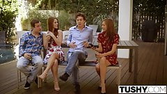 TUSHY First Double Penetration For Redhead Kimberly Brix