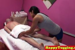 Two sexy Asian massage therapists get him off