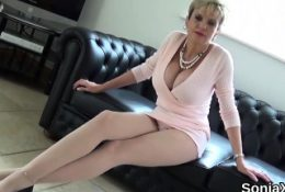 Unfaithful british mature lady sonia shows her large 56Crb