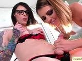 Adriana gets slammed hard by TS Chelseas uncut hard dick