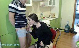 Amateur Brunette Teen Camgirl Sucking Cock On Webcam