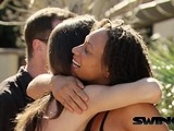 Amateur swinger couples discuss about their sexual fantasies