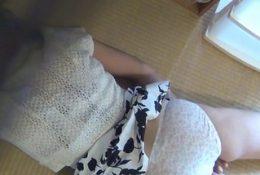 Fingerbanging japanese babe watched tweaking nipples