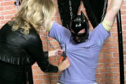 FrenzyBDSM Cock and Balls Vaxing and Bondage