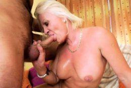 Grandmother sucks cock