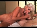 Granny Goes WILD over His Huge Dick – See Mom Suck