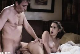 Guilty daughter anal fucked by dad