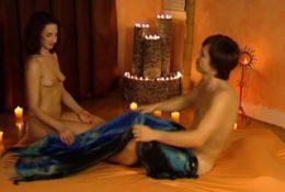 Handjob Massage For His Massive Dick