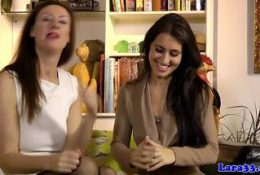 Horny Women Go Down On Each Other On The Floor