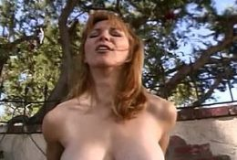 Hot Babe With Big Tits Rides Some Dick Outdoors