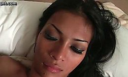 Hot Latina Shemale Getting Cumshot