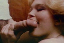 Hot Sexy Blonde Tasting  Hot Cock