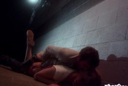 James Deen Punishes Dahlia Sky in Back Alley Anal Fuck