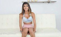 Latina Teen's First Threesome