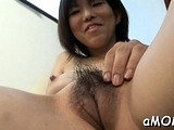 Oriental dilettante milf gets penis in pussy while at work
