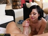 Petite stepsister drilled after foreplay