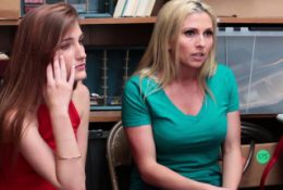 Petite teen took a cops big thing in front of stepmom